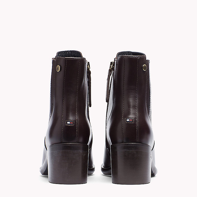 TOMMY HILFIGER Leather Ankle Boot - BLACK - TOMMY HILFIGER Shoes - detail image 2