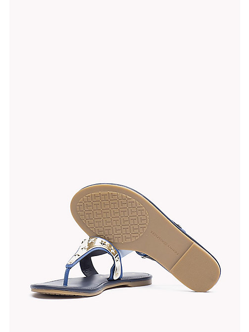 TOMMY HILFIGER Leather Sandal - TOMMY NAVY - TOMMY HILFIGER Sandals - detail image 1