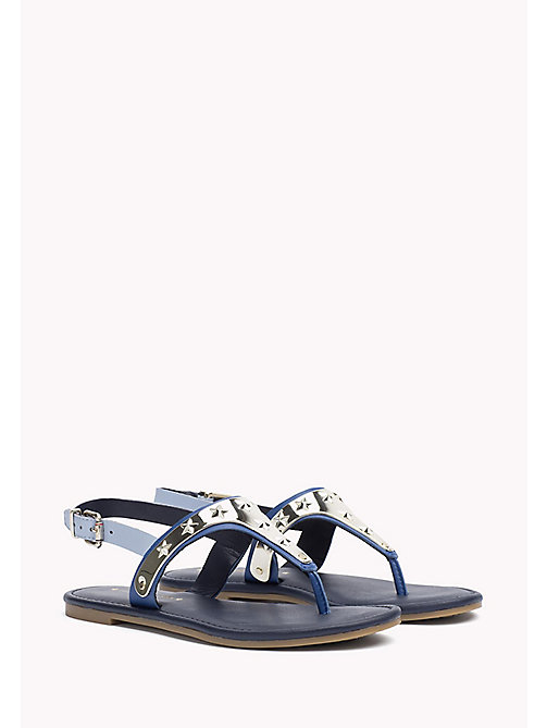 TOMMY HILFIGER Leather Sandal - TOMMY NAVY - TOMMY HILFIGER Sandals - main image
