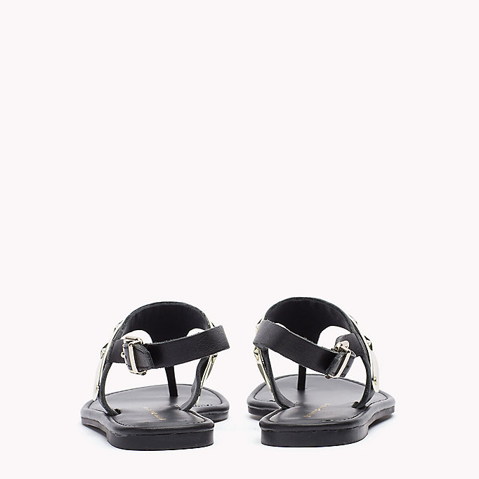TOMMY HILFIGER Leather Sandal - TOMMY NAVY - TOMMY HILFIGER SHOES - detail image 2
