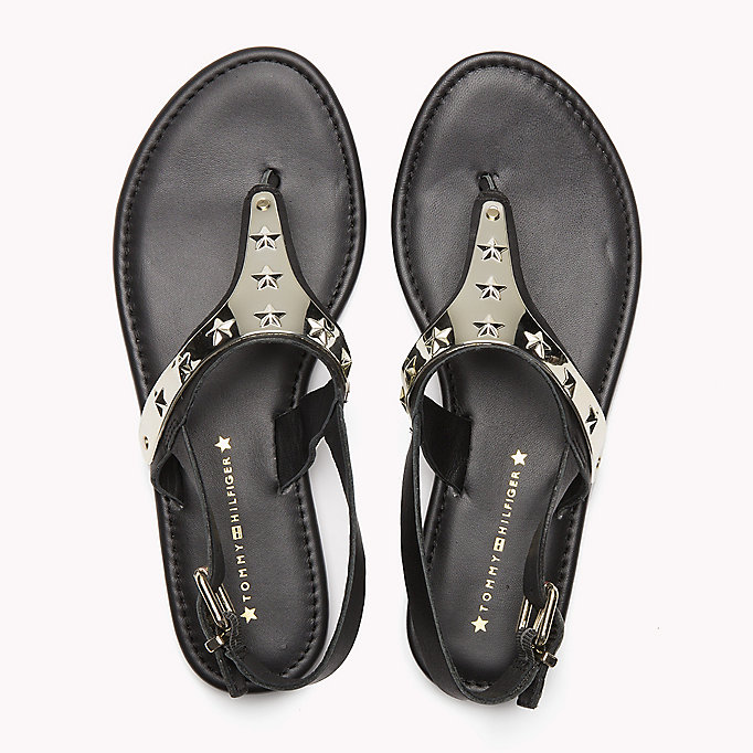TOMMY HILFIGER Leather Sandal - TOMMY NAVY - TOMMY HILFIGER SHOES - detail image 3