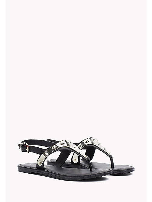 TOMMY HILFIGER Leather Sandal - BLACK - TOMMY HILFIGER Sandals - main image