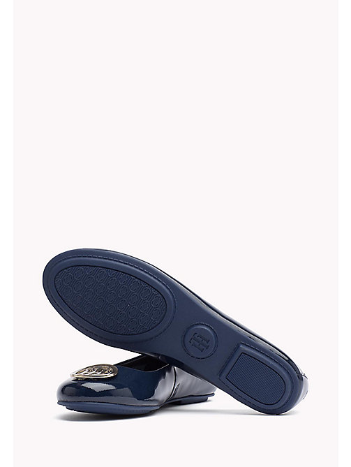 TOMMY HILFIGER Metallic Leather Ballerina - TOMMY NAVY - TOMMY HILFIGER Flat Shoes - detail image 1