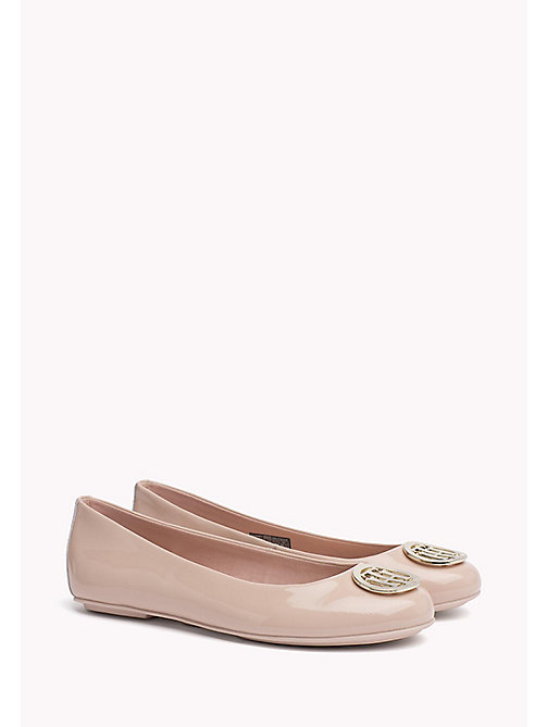 TOMMY HILFIGER Leder-Ballerina in Metallic-Optik - DUSTY ROSE -  Flache Schuhe - main image