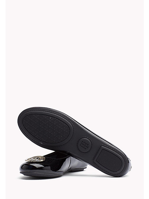 TOMMY HILFIGER Metallic Leather Ballerina - BLACK - TOMMY HILFIGER Flat Shoes - detail image 1