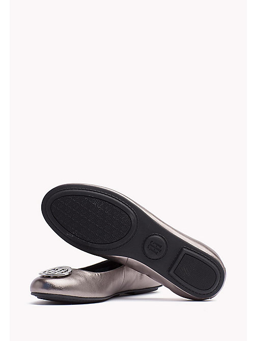 TOMMY HILFIGER Metallic Leather Ballerina - DARK SILVER - TOMMY HILFIGER Flat Shoes - detail image 1