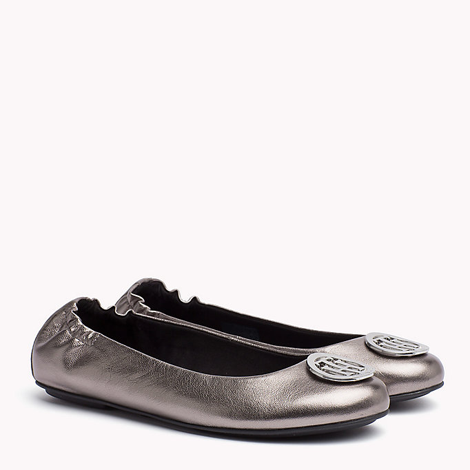 TOMMY HILFIGER Metallic Leather Ballerina - MEKONG - TOMMY HILFIGER Women - main image