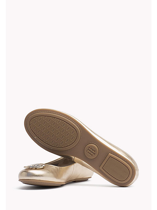 TOMMY HILFIGER Metallic Leather Ballerina - MEKONG - TOMMY HILFIGER Flat Shoes - detail image 1