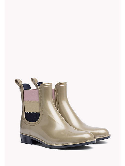 TOMMY HILFIGER Metallic Ankle Rain Boot - LIGHT GOLD - TOMMY HILFIGER Boots & Ankle Boots - main image
