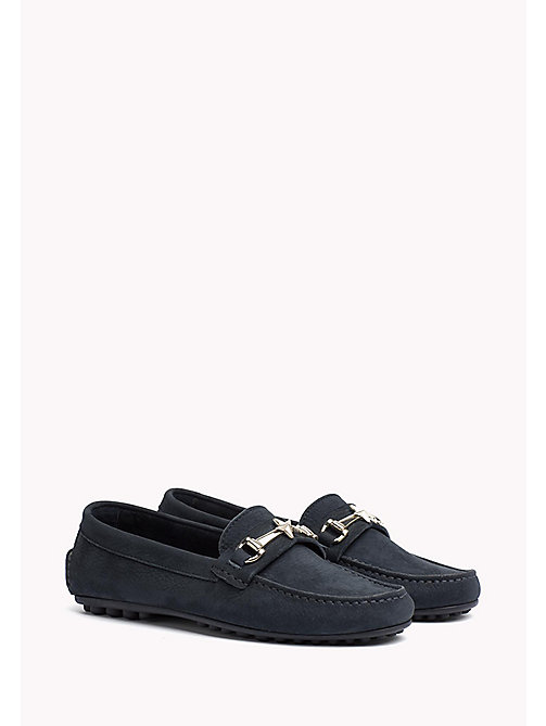 TOMMY HILFIGER Leather Mocassin - MIDNIGHT - TOMMY HILFIGER Flat Shoes - main image