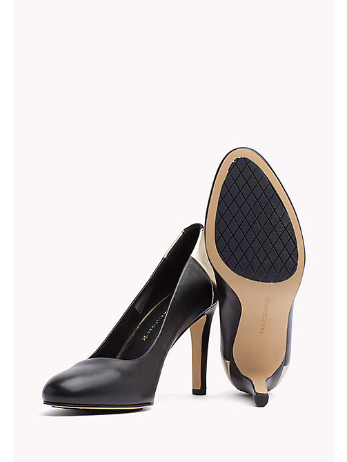 TOMMY HILFIGER Leather Pumps - BLACK - TOMMY HILFIGER Shoes - detail image 1