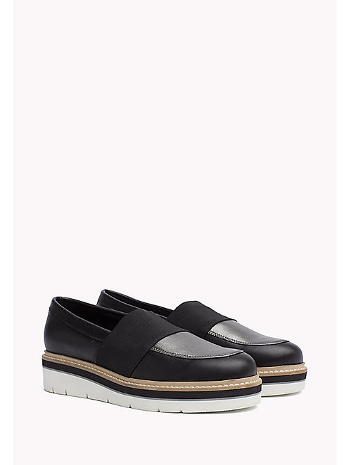 TOMMY HILFIGER Leather Loafer - BLACK - TOMMY HILFIGER Shoes - main image