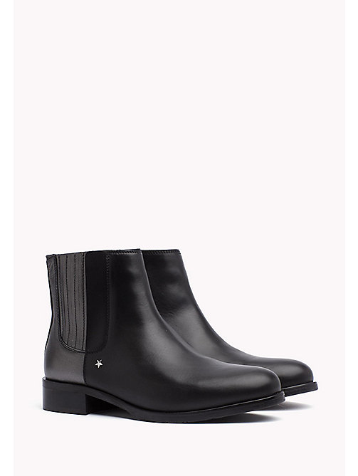 TOMMY HILFIGER Metallic Heel Chelsea Boot - BLACK - TOMMY HILFIGER Boots - main image