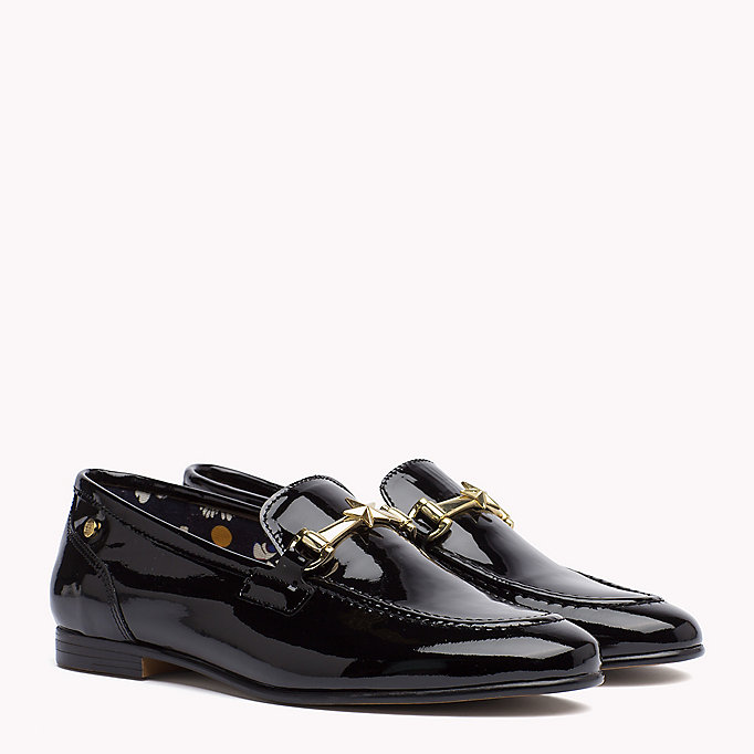 TOMMY HILFIGER Patent Leather Loafer - TOMMY NAVY - TOMMY HILFIGER Women - main image