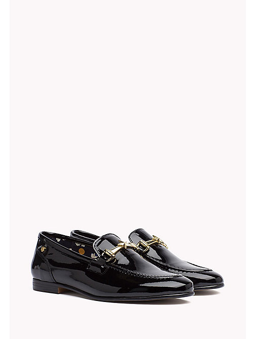 TOMMY HILFIGER Patent Leather Loafer - BLACK - TOMMY HILFIGER The Office Edit - main image