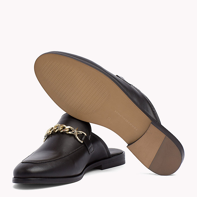 TOMMY HILFIGER Leather Slip-On Loafers - SILKY NUDE - TOMMY HILFIGER SHOES - detail image 1