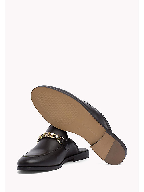 TOMMY HILFIGER Leather Slip-On Loafers - BLACK - TOMMY HILFIGER Best Sellers - detail image 1