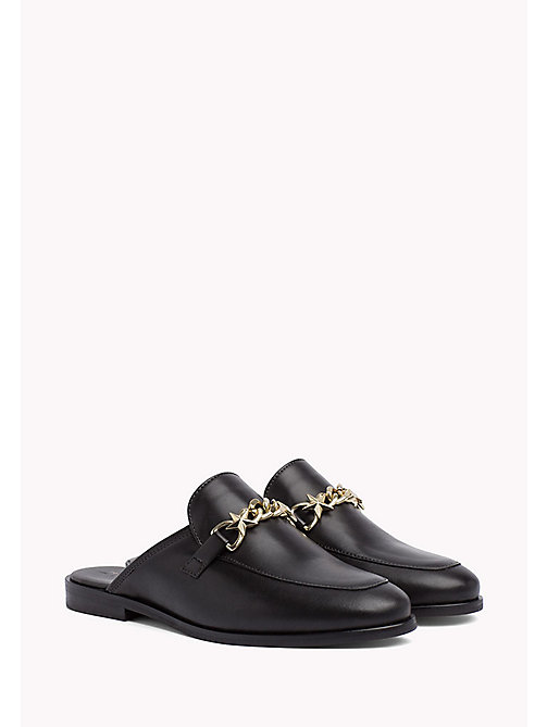 TOMMY HILFIGER Leather Slip-On Loafers - BLACK - TOMMY HILFIGER Nouveautés - image principale