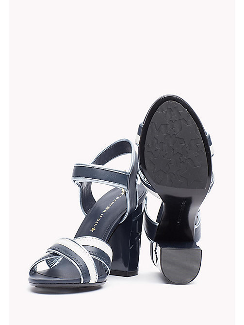 TOMMY HILFIGER Leather Sandal - MIDNIGHT - TOMMY HILFIGER Sandals - detail image 1