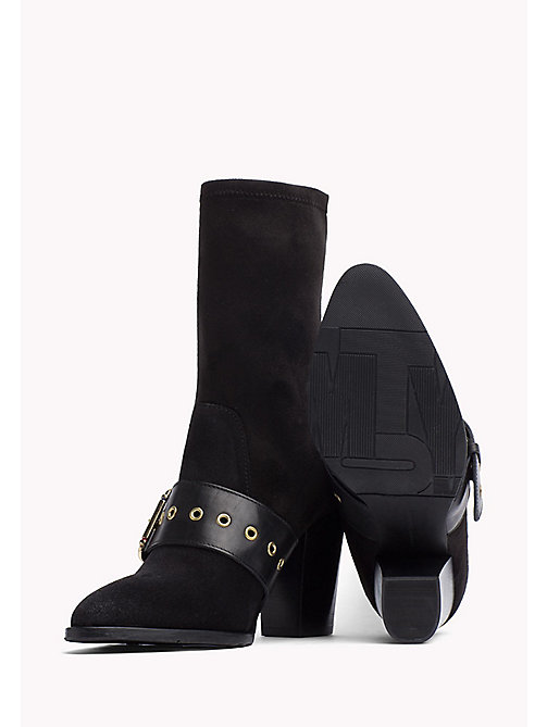 TOMMY HILFIGER Suede Ankle Boot Gigi Hadid - BLACK - TOMMY HILFIGER Shoes - detail image 1