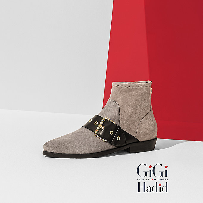 TOMMY HILFIGER Suede Ankle Boot Gigi Hadid - BLACK - TOMMY HILFIGER Women - main image