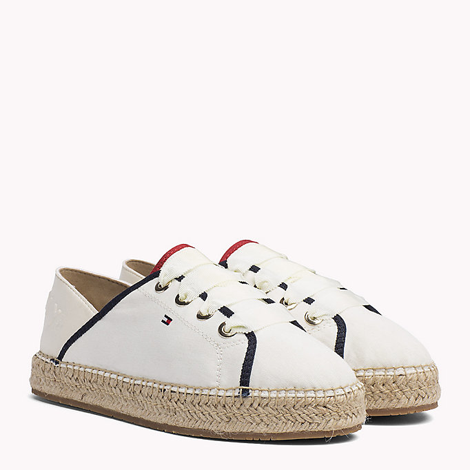 TOMMY HILFIGER Lace-Up Espadrilles - TANGO RED - TOMMY HILFIGER Women - main image
