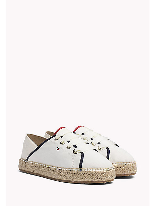 Lace-Up Espadrilles - WHISPER WHITE - TOMMY HILFIGER SHOES - main image