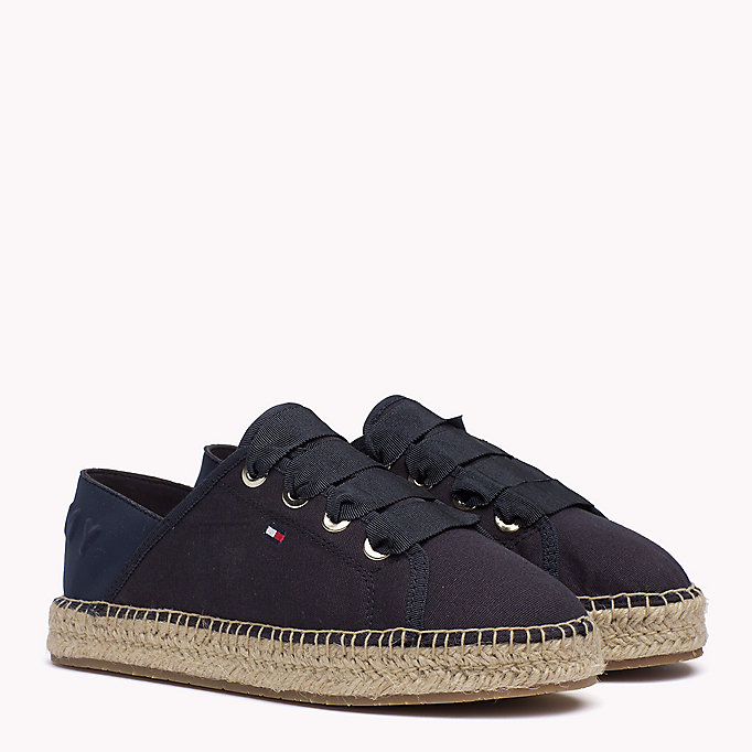 TOMMY HILFIGER Lace-Up Espadrilles - WHISPER WHITE - TOMMY HILFIGER Women - main image