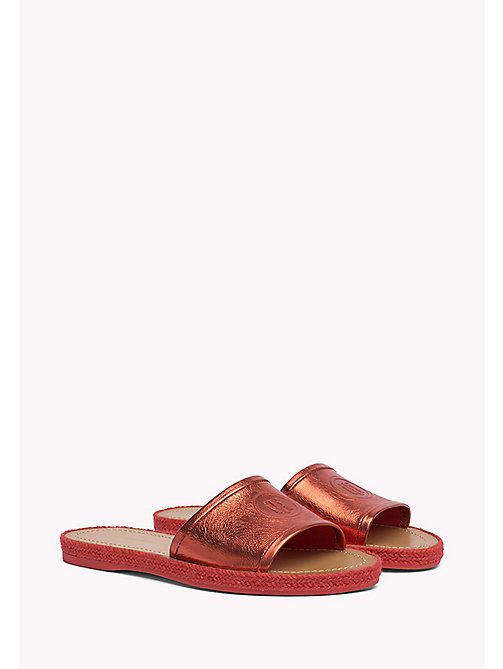 TOMMY HILFIGER Metallic slipper - RED CLAY - TOMMY HILFIGER Sandalen - main image