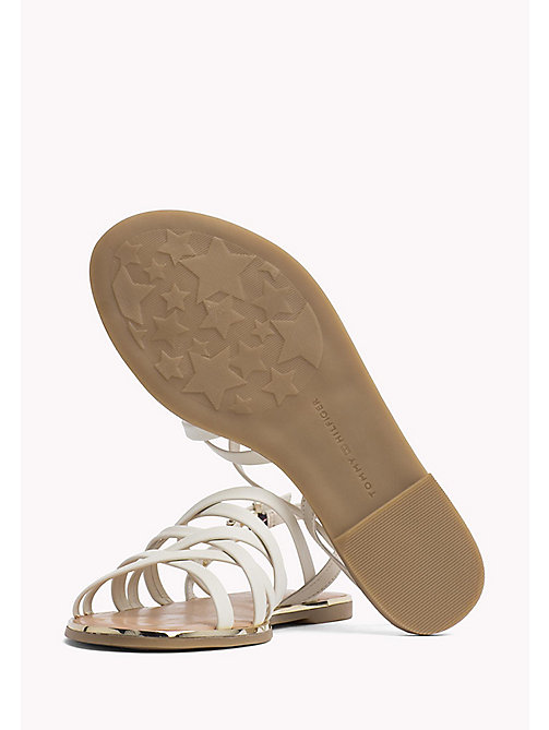TOMMY HILFIGER Leather Gladiator Strap Sandals - WHISPER WHITE - TOMMY HILFIGER Flat Sandals - detail image 1
