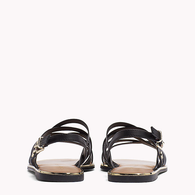 TOMMY HILFIGER Leather Gladiator Strap Sandals - WHISPER WHITE - TOMMY HILFIGER Women - detail image 2