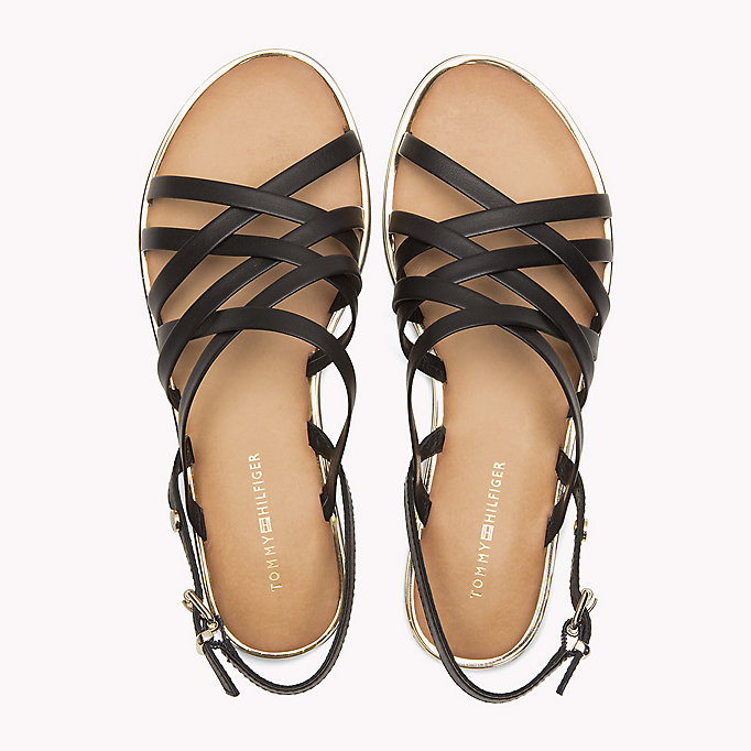 TOMMY HILFIGER Leather Gladiator Strap Sandals - WHISPER WHITE - TOMMY HILFIGER Women - detail image 3