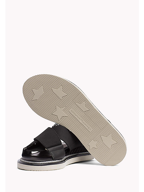 TOMMY HILFIGER Sporty Stretch Sandals - BLACK - TOMMY HILFIGER Flat Sandals - detail image 1