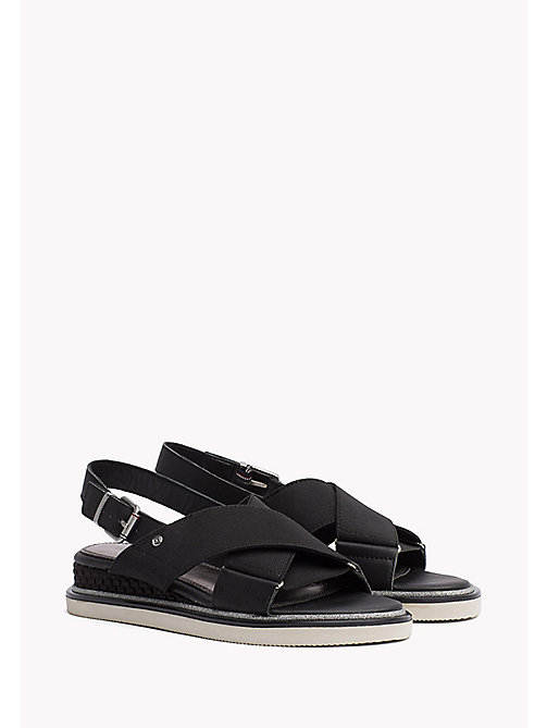 TOMMY HILFIGER Sporty Stretch Sandals - BLACK - TOMMY HILFIGER Flat Sandals - main image