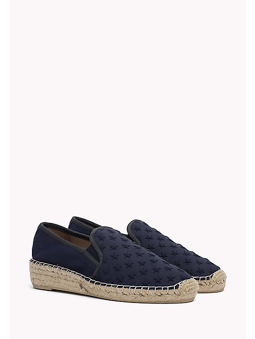 TOMMY HILFIGER Star Embossed Espadrilles - MIDNIGHT - TOMMY HILFIGER Shoes - main image