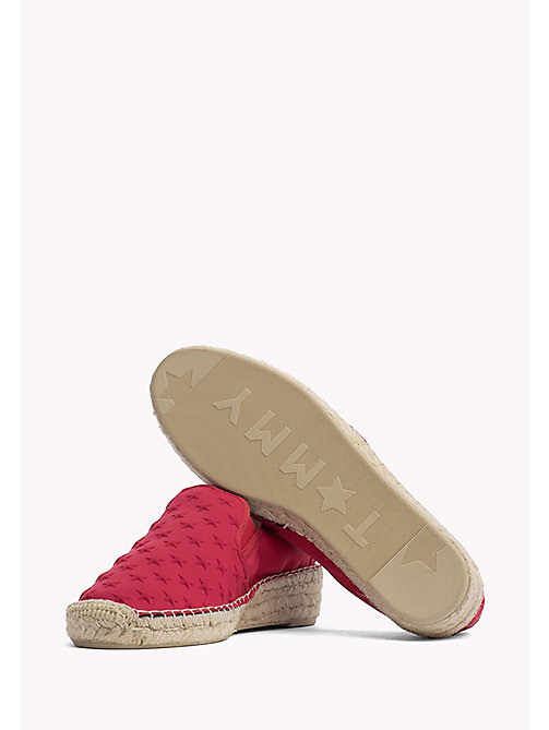 TOMMY HILFIGER Star Embossed Espadrilles - TANGO RED - TOMMY HILFIGER Shoes - detail image 1