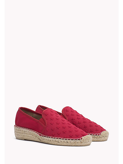 TOMMY HILFIGER Star Embossed Espadrilles - TANGO RED - TOMMY HILFIGER Shoes - main image