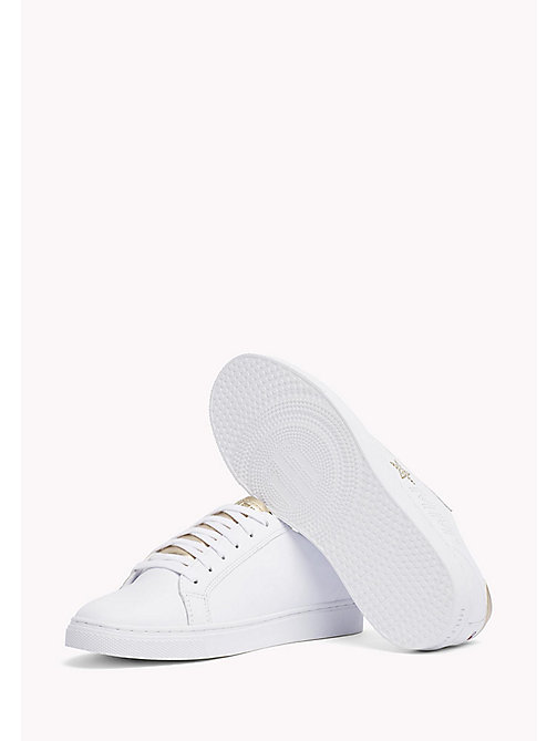 Leather Diamante Logo Trainers - WHITE-MEKONG - TOMMY HILFIGER Schoenen - detail image 1
