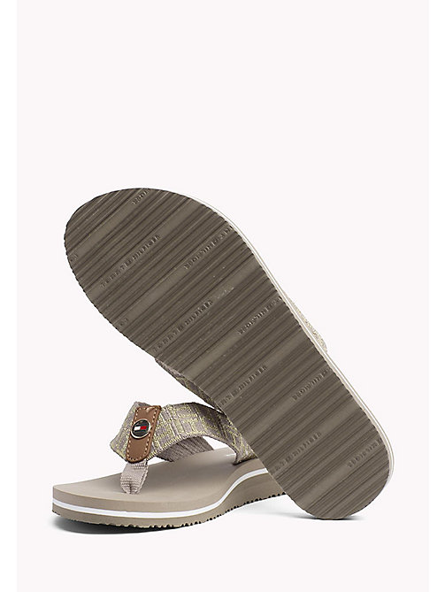 TOMMY HILFIGER Metallic Beach Sandals - COBBLESTONE - TOMMY HILFIGER VACATION FOR HER - detail image 1