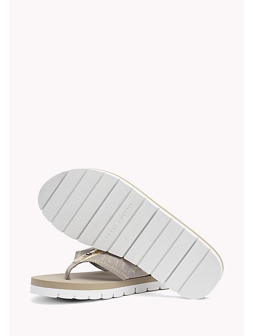 TOMMY HILFIGER Flexible Beach Sandals - COBBLESTONE - TOMMY HILFIGER Flip Flops & Sliders - detail image 1