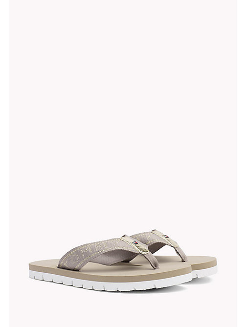 TOMMY HILFIGER Flexible Beach Sandals - COBBLESTONE - TOMMY HILFIGER Flip Flops & Sliders - main image