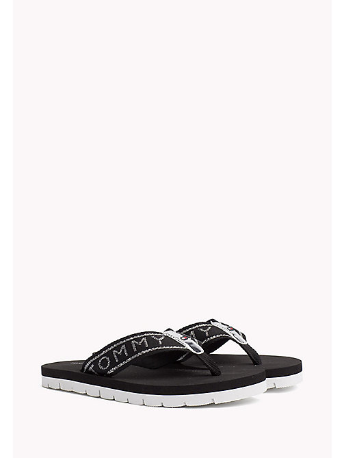 TOMMY HILFIGER Sandales de plage flexibles - BLACK - TOMMY HILFIGER Tongs & Sliders - image principale