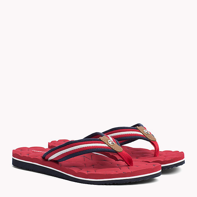 TOMMY HILFIGER Comfort Low Beach Sandals - COBBLESTONE - TOMMY HILFIGER SHOES - main image