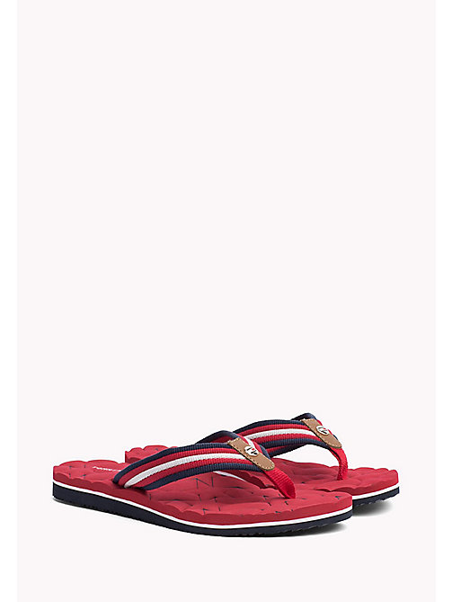 TOMMY HILFIGER Comfort Low Beach Sandals - TANGO RED - TOMMY HILFIGER Flip Flops & Sliders - main image