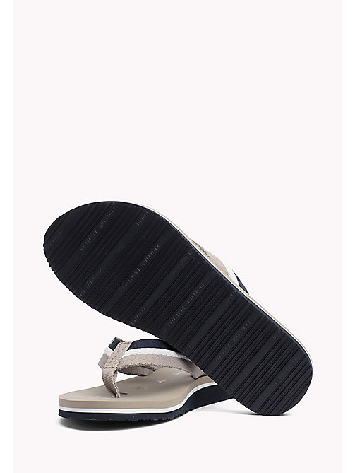 TOMMY HILFIGER Webbing Beach Sandals - COBBLESTONE - TOMMY HILFIGER Tongs & Sliders - image détaillée 1