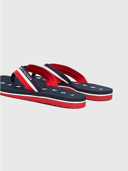 TOMMY HILFIGER Webbing Beach Sandals - MIDNIGHT - TOMMY HILFIGER Sandals - detail image 1