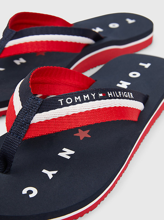 TOMMY HILFIGER Webbing Beach Sandals - BLACK - TOMMY HILFIGER Women - detail image 2