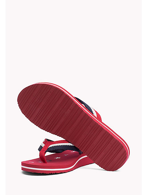 TOMMY HILFIGER Webbing Beach Sandals - TANGO RED - TOMMY HILFIGER Tongs & Sliders - image détaillée 1