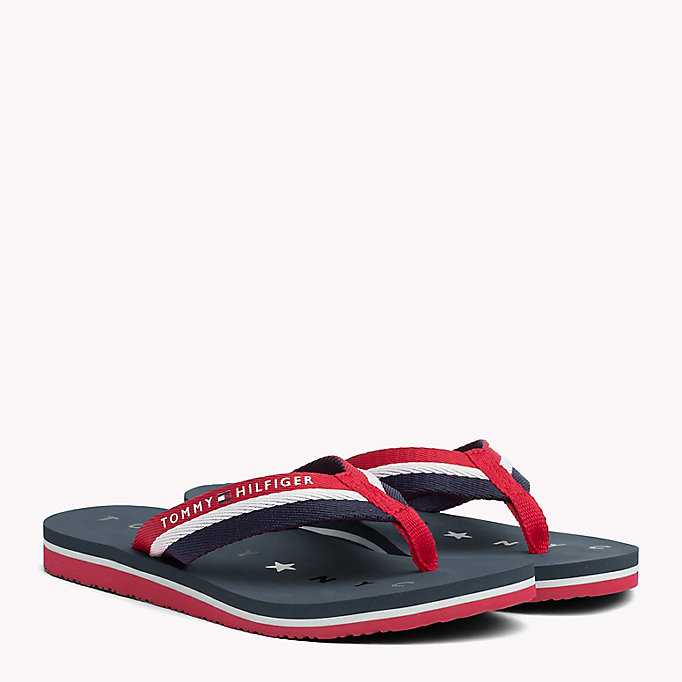 TOMMY HILFIGER Webbing Beach Sandals - COBBLESTONE - TOMMY HILFIGER SHOES - main image
