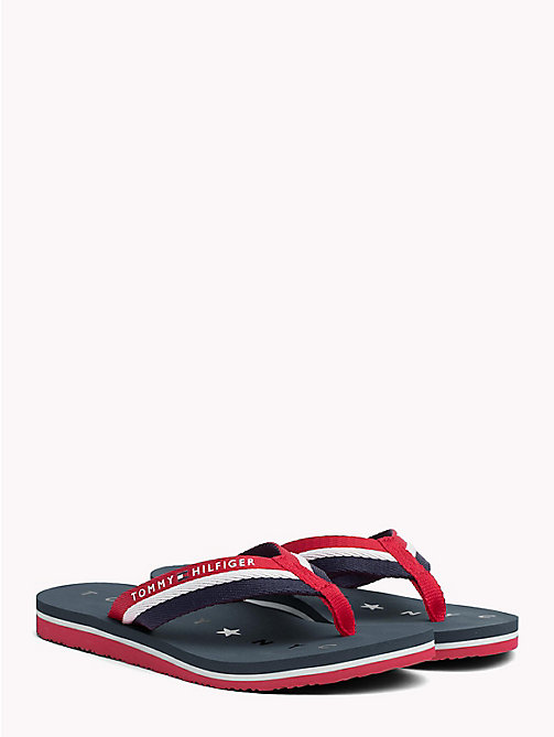 TOMMY HILFIGER Webbing Beach Sandals - TANGO RED - TOMMY HILFIGER Tongs & Sliders - image principale